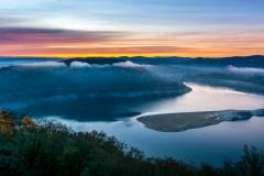 Morgenröte am Edersee von Schloss Waldeck