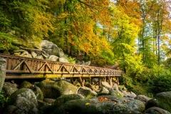 Brücke Felsenmeer / Odenwald im Herbst