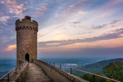 Sonnenuntergang auf Schloss Auerbach