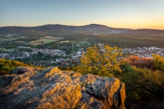 Sonnenaufgang am Aussichtspunkt am großen Mannstein