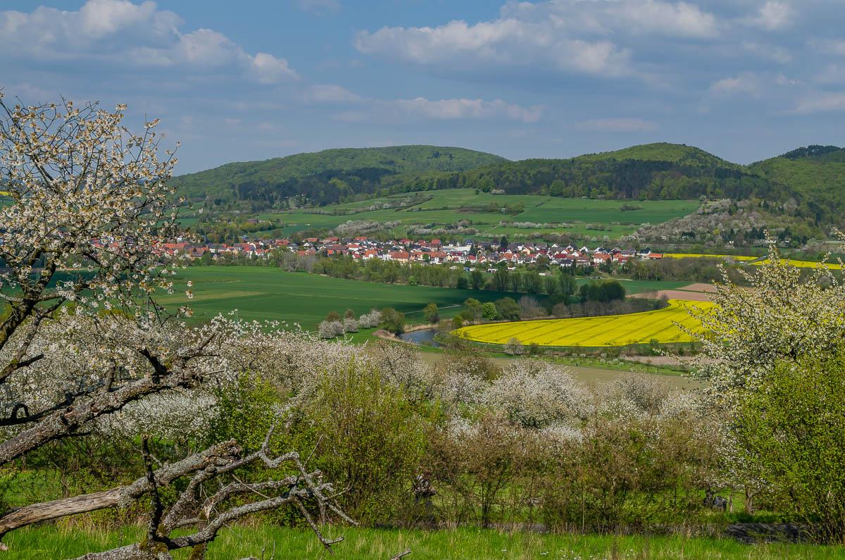 Blick vom Kirschenwanderweg auf Witzenhausen